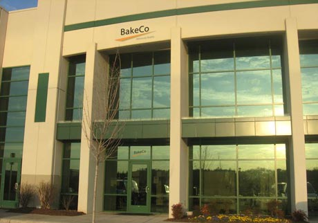 The BakeCo headquarters building in Sterling, Virginia